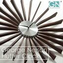 正規ライセンス取得 George Nelson ジョージ・ネルソン フラッター・クロック 時計 ネルソンクロック 掛け時計 掛時計 壁掛け時計 壁掛時計 おしゃれ ウッド デザイナー リビング ダイニング 和室 インテリア雑貨 復刻版 リプロダクト ギフト ナチュラル シンプル 北欧