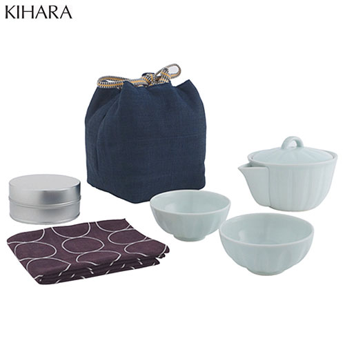 KIHARA(キハラ)旅持ち茶器ポットお茶急須有田焼磁器食器茶器aritaaritayaki誕生日プ