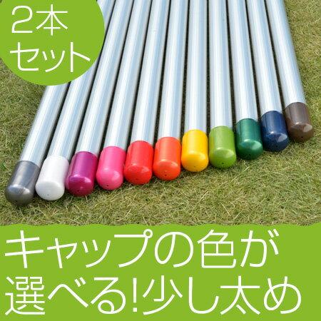 物干し竿 2本セット サビない アルミ物干しざお 35パイ×4mシルバ色 2本セット(日本製・自社工場製造物干し竿)キャップの色が選べる