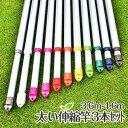 太くて丈夫 サビない伸縮竿 3本セット 3.6mから4.6mまで伸びる 便利な伸縮物干し竿 敷布団も干せる キャップの色も選べる アルミ 4...