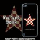 ChecksStar(ブラック)レッド-iPodtouch5ケース