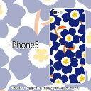 北欧花柄ネイビー-iPhone5/5Sケース