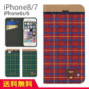 グルマンディーズ くまのがっこう iPhone7 iPhone6s/6 4.7インチモデル対応 フリップカバー カードポケット スタンド機能付き スリムタイプ 手帳型iPhoneケース レッド 赤 グリーン 緑 チェック柄 ジャッキー