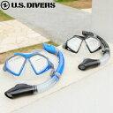 送料無料 シュノーケル セット 大人 2点セット マスク + スノーケル USダイバーズ ドライスノーケル付 メンズ アドミラル ADMIRAL あす楽