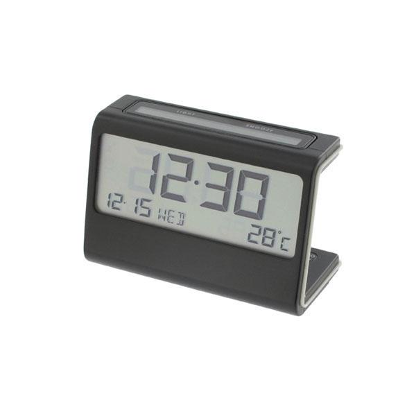 【クーポン配布中】 LEXON レクソン ELA CLOCK dual power EL エラ クロック 置時計 時計 ブラック LR102-N1