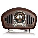 ポケットラジオ 木製 FM/AM対応 レトロ 小型 モノラル 高感度