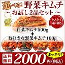 【送料無料】2,000円ポッキリ!選べる野菜キムチお試し2品セット【キムチ 国内製造 安