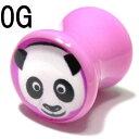 ショッピングダブル ボディピアス ポップパンダピクチャー ライトパープル アクリル ダブルフレアプラグ【0G(8.0mm)】 BPPL-09-0G グラフィック ボディーピアス 動物 ポップ 紫 ピンク/10P05Nov16【2017-12SS50】