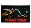 Road runner rubber doormat