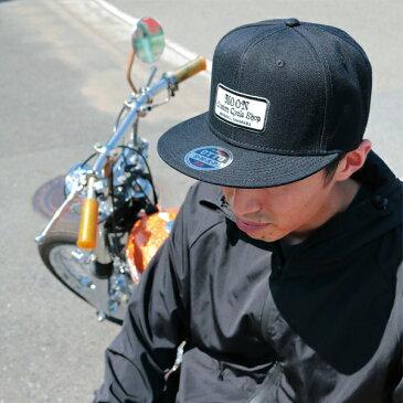 MOON Custom Cycle Shop フラット ハット バイザー キャップ
