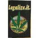 【送料無料】 国旗 マリファナ 大麻 カンナビス 150cm × 90cm 特大 フラッグ 【受注生産】