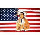 【送料無料】 国旗 アメリカ 米国 USA 星条旗 ネイティブアメリカン インディアン 150cm × 90cm 特大 フラッグ 【受注生産】