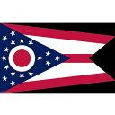 【送料無料】 国旗 オハイオ州 州旗 アメリカ 米国 150cm × 90cm 特大 フラッグ 【受注生産】