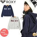 19-20 2020 ROXY ロキシー MINI JIVY ZIP ジップ パーカー ジップアップ キッズ スノーボード スキー ジュニア 子供 ガールズ 女の子【モアスノー】