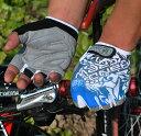 HANDCREW 自転車グローブ サイクルグローブ サイクリンググローブ ハーフ クッション入り SS-8-1