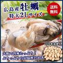 大粒2L 広島県産! 牡蠣 約1kg (NET850g) 加...