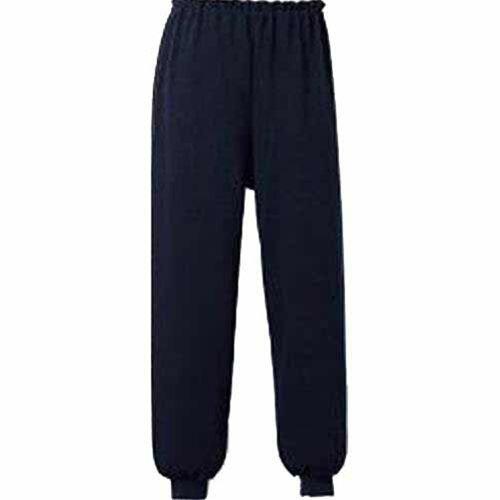 【◇】【送料無料】5111 スクエアニット裾リブ付き全開ズボン LLサイズ ネイビー...:morikawa:10051769