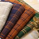 【ワイド幅】生地の森 先染めリネンマルチチェック50cm単位布 広幅 薄手 おしゃれ