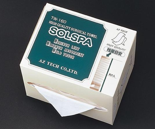 ソルスパタオルホルダー 専用滅菌タオル TW-160 1箱(60枚/袋×20袋入)