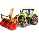 農業機械 トラクター はたらく車 ミニカー ブルーダー【送料無料】【あす楽】BRUDER Claas Axion950 トラクター&スノーチェーン・ブロワ— 03017
