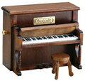 アップライト型ピアノ(茶)18弁オルゴール 木製アンティーク 仕上げサンキョー製(日本)B-525S