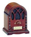 アンティーク ラジオ(茶)18弁オルゴール 木製アンティーク 仕上げサンキョー製(日本)B-622S