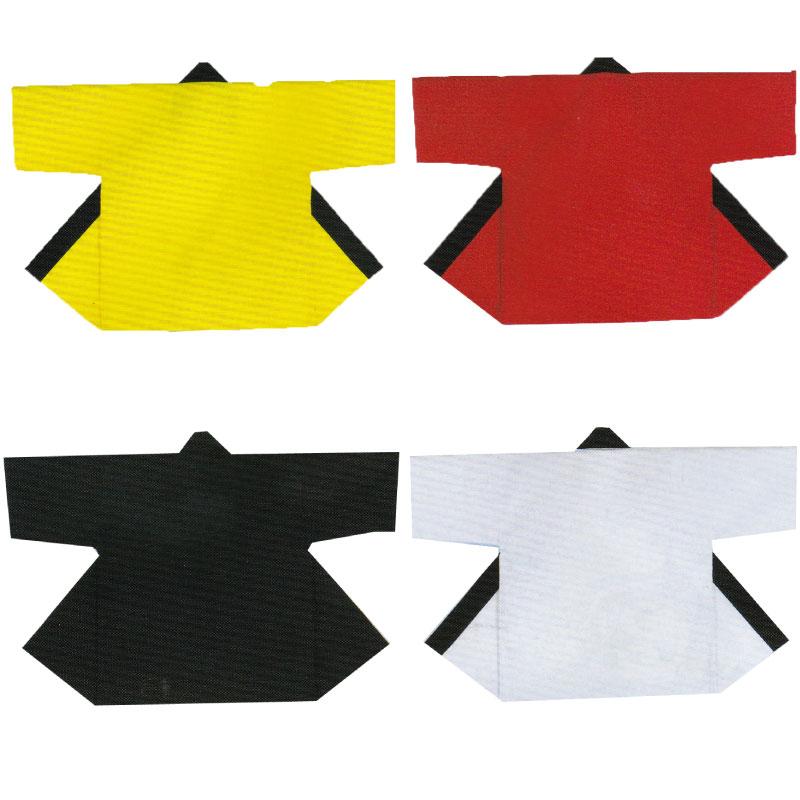 【子供用はっぴ】無地子供袢天 帯付 黄・赤・黒・...の商品画像