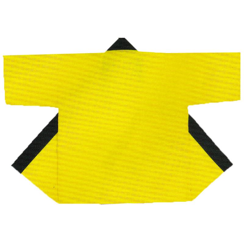 【子供用はっぴ】無地子供袢天 帯付 黄・赤・黒...の紹介画像2