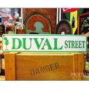 學習, 服務, 保險 - ブリキ看板 DUVAL STREET アメリカ雑貨/アメ雑貨/ガレージ/インテリア/レトロ/ブリキプレート