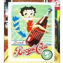 ブリキ看板 BETTY BOOP ベティーブープ コーラ アメリカ雑貨/アメ雑貨/ガレージ/インテリア/レトロ/ブリキプレート