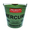 ブリキバケツ MERCURY マーキュリー C118 カーキ アメリカ雑貨/アメ雑貨/ガレージ/洗車/掃除小物入れ 【あす楽対応】