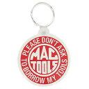【メール便 ゆうパケット299円】 キーホルダー MAC TOOLS マックツール アメリカ雑貨/アメ雑貨/キーリング/ラバー