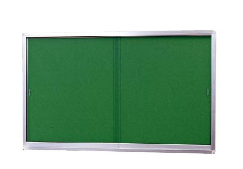 壁付型 引き戸式ポスターケース(屋内用・薄型タイプ)H900mm×W1200mm×D40mm[送料無料]