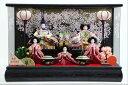 楽天人形のモリシゲLEDコードレス雛人形アクリルケース芥子5人ケース黒木目(3-2)アクリルケース雛飾り【雛人形ケース飾り】
