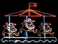 LEDメリーゴーランド【LEDイルミネーション】 【送料無料】クリスマスイルミネーションモチーフ