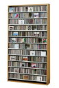 CD,DVDの収納棚 CD/DVDストッカー CS1284 CD約1284枚収納 (CDラック DVDラック) ダークブラウン,ナチュラル,ホワイト