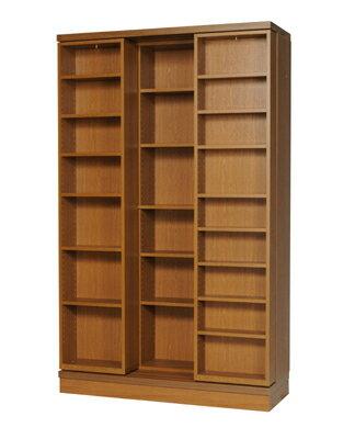 本の大量収納 スライド書棚 (スライド本棚)書院 高さ197cm幅120cm オープンタイプ SI-120
