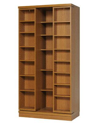 本の大量収納 スライド書棚 (スライド本棚) 雅シリーズ SM-90 幅90cm 高さ178cm