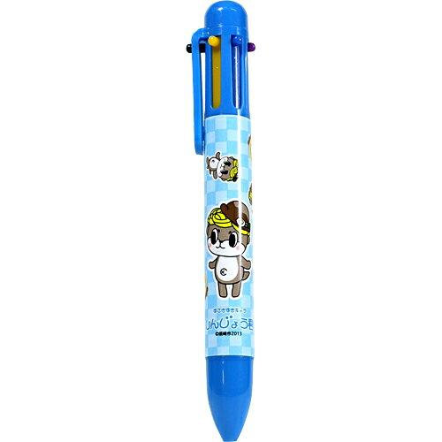 しんじょう君 6色ボールペン(青)【高知】【しんじょう君】【ボールペン】...:moritokuzo:10000233