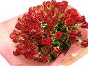 【送料無料】赤いバラ100本の花束☆国産の薔薇の中でもその季節ごとに品質の良い産地を特選し、選び抜いた赤バラをセンスよく束ねました。