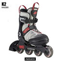K2 ケイツー ジュニア インラインスケート RAIDER レイダー GREY RED グレイ レッド ケーツー 国内正規品