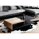 テーブル 【送料無料】 センターテーブル 木製テーブル table ガラステーブル Xilo ガラス 木目 木製 シンプル デザイナーズ 北欧 モダン アルモニア