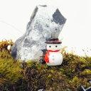 雪だるま クリスマス ミニチュア ジオラマ 動物模型 苔テラリウム おもちゃ フィギュア