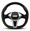 MOMO モモ ステアリング GT50 ITALY JAPAN EDITION (ジーティー50 イタリー ジャパン エディション) ブラックスポーク 350mm 〔G-4〕