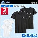 ジュニアメンズ adidas アディダス VネックTシャツ ...