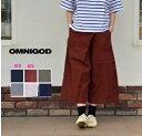 【送料・代引き手数料無料】OMNIGOD(オムニゴッド)麻キャンバス キュロットスカート 53-684X【ID】