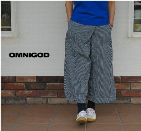 【送料・代引き手数料無料】OMNIGOD(オムニゴッド)ヘリンボーンヒッコリー キュロットスカート 53-703D【ID】