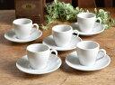 【白い食器】高級白磁 formal white  エスプレッソ デミタスカップ&ソーサー5客セ