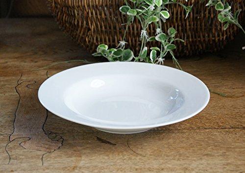 ホワイトラインシンプルスタイルしろい食器スープ皿白い食器