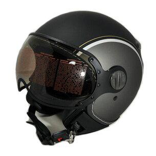 ジェット ヘルメット ブラック マットガンメタ